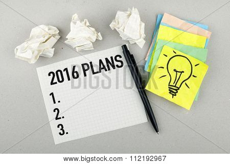 New Year Plans For 2016