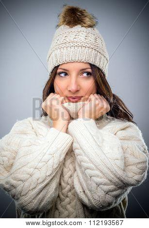 Pretty Young Woman In Winter Fashion