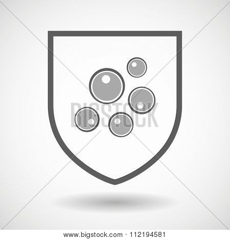 Line Art Shield Icon With Oocytes