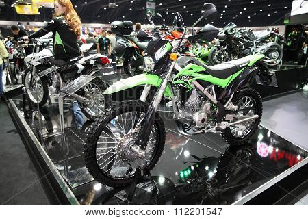 Bangkok - December 11 : Kawasaki Klx 150 Bf Motorcycle On Display At The Motor Expo 2015 On December