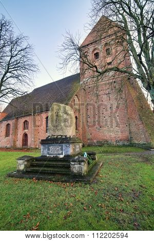 Sankt-nikolai-kirche (sankt-nikolai-church) In Richtenberg, Mecklenburg-vorpommern, Germany. The Ins