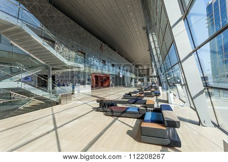Interior Of The Doha Convention Center, Qatar