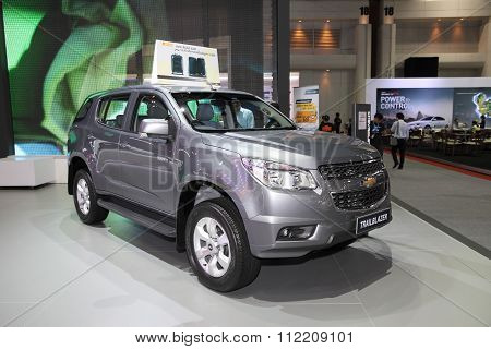 Bangkok - December 11: Chevrolet Trailblazer Car On Display At The Motor Expo 2015 On December 11, 2