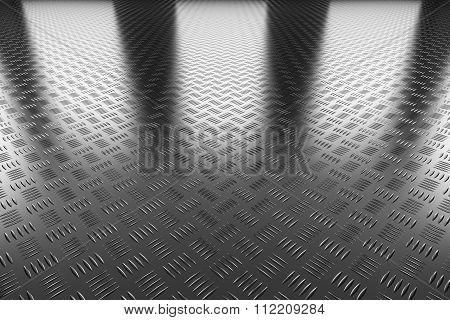 Industrial Steel Flooring Perspective View