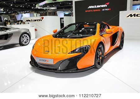 Bangkok - December 11: Mclaren 650S Car On Display At The Motor Expo 2015 On December 11, 2015 In Ba