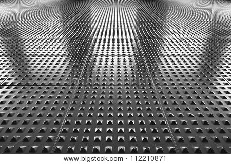 Industrial Steel Floor Perspective View