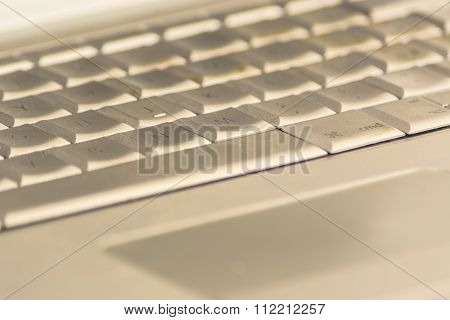 Notebook Keyboard Close Up