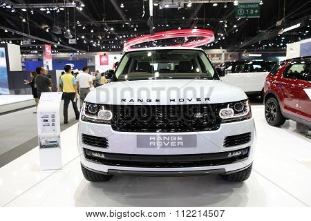 Bangkok - December 11: Range Rover Car On Display At The Motor Expo 2015 On December 11, 2015 In Ban