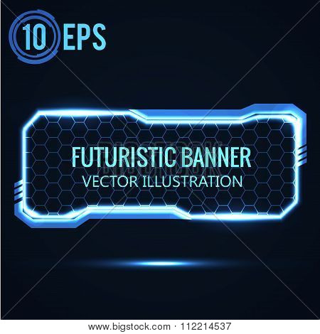 futuristic glowing background vector illustration