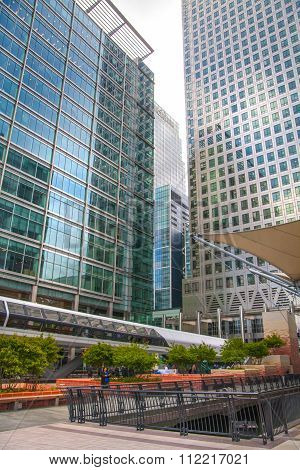 LONDON, UK - MAY 1, 2015: Canary Wharf business centre view