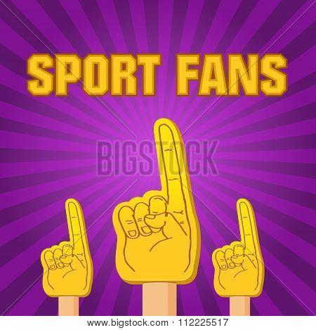 Color Sport Fans Foam Fingers