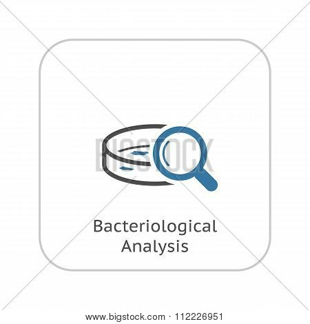 Bacteriological Analysis Icon. Flat Design.