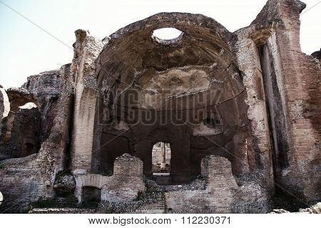 Ancient Ruins Of Villa Adriana ( The Hadrian's Villa ), Cryptoporch Of Great Spa (grandi Terme) Tivo