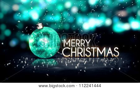 Tosca Silver Merry Christmas Bokeh Beautiful 3D Background