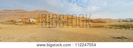 Panorama Of The Theban Hills