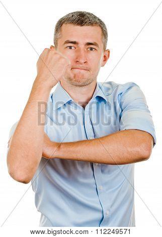 cubital sign like the middle finger