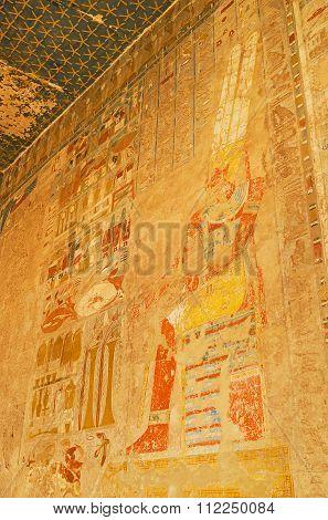 The Frescoes Of Hatshepsut Temple