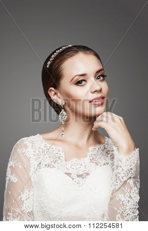 A Beautiful Girl Is In A Wedding Decoration