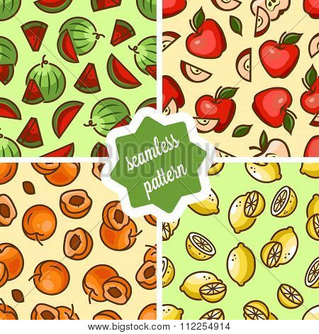 fruit patterns set