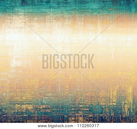 Grunge retro vintage texture, old background. With different color patterns: yellow (beige); brown; blue; white