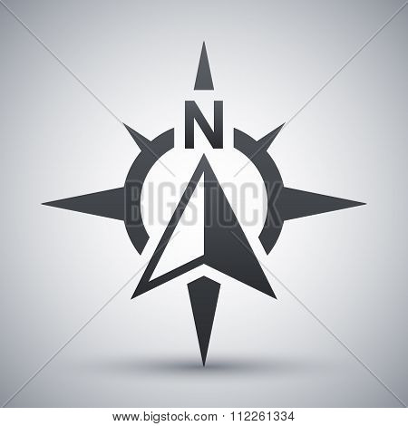 Compass Concept Icon, Vector