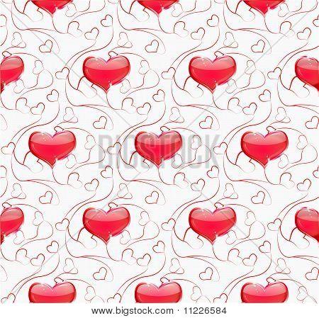 Seamless valentine
