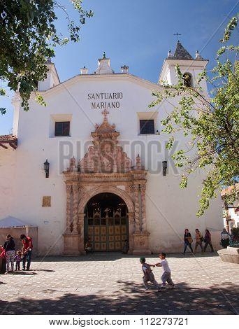 Cuenca, Ecuador - November 27, 2015: Santuario Mariano On 27 Nov