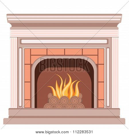 Simple Fireplace Design