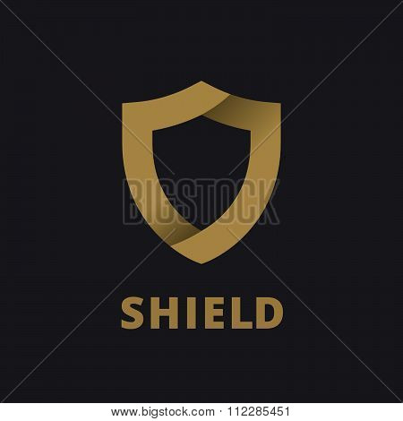 Shield logo icon design template elements