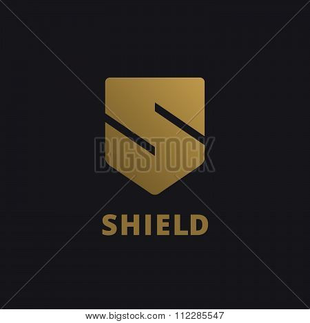 Letter S Shield Logo Icon Design Template Elements