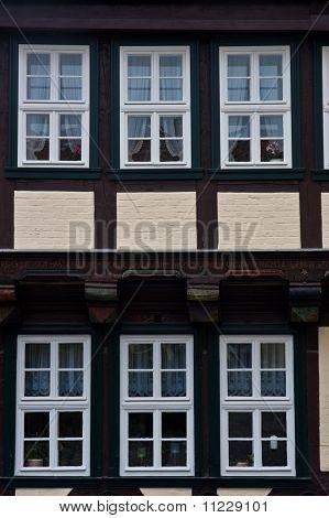 Quedlinburg old town homes windows