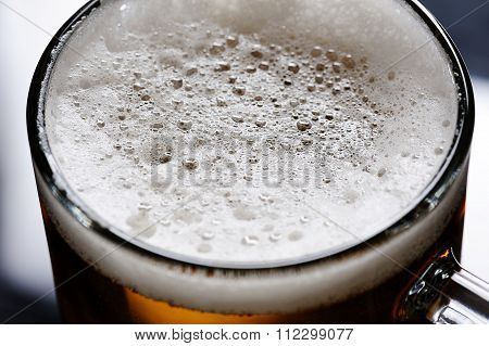 Close Up Of Beer Foam