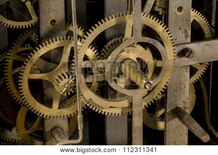 Gears of an old clock