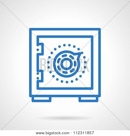 Money saving blue simple line vector icon