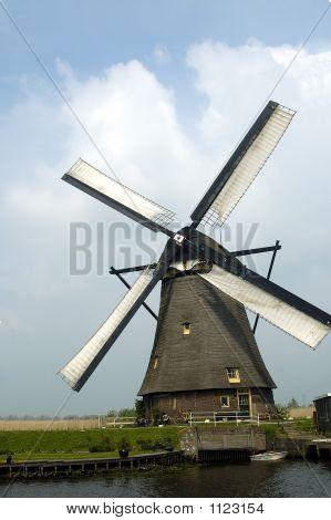 Portrait Of A Dutch Windmill