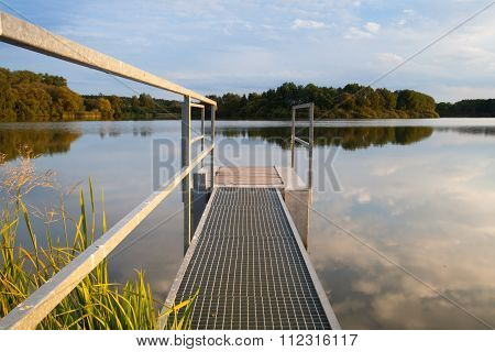 Sluice Gate On The Pond