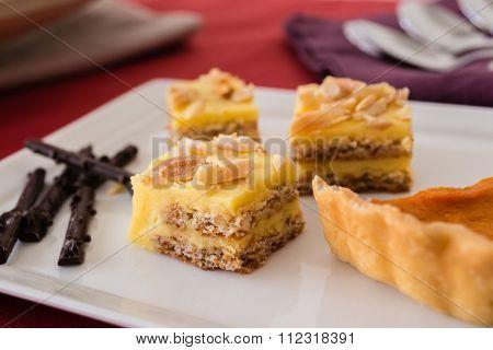 Almond torte squares