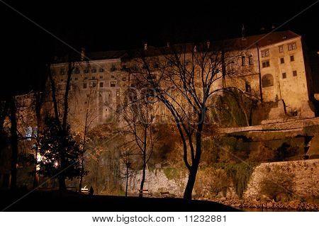 Castle of Cesky Krumlov at night