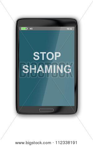 Stop Shaming Concept