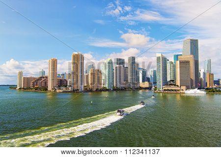 Aerial View Of  Miami Skycrapers