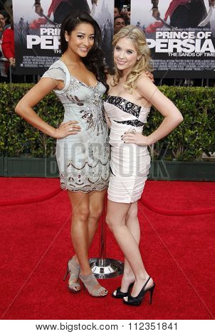 Shay Mitchell and Ashley Benson at the Los Angeles Premiere of