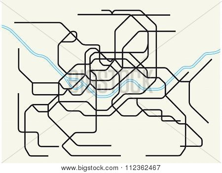 Seoul Subway Map Vector.Seoul Metropolitan Vector Photo Free Trial Bigstock