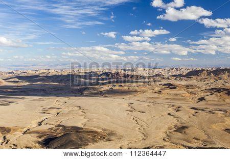 Makhtesh Ramon (ramon Crater) Landscape. Negev Desert. Israel