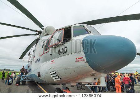 Helicopter MI-26T. Tyumen. Russia