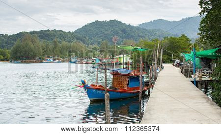 KOH CHANG - THAILAND - DEC 22, 2015: Fisherman's village of the Ko Chang island. Island is on Gulf of Thailand, near border with Cambodia, population of 5356 people living in 8 villages.