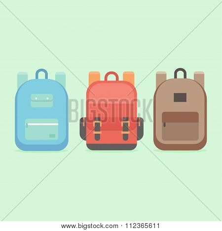 Backpacks vector illustration