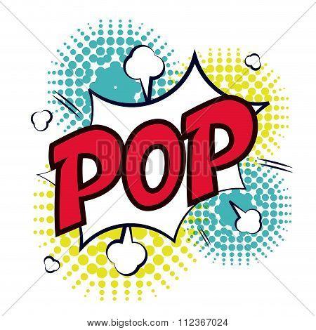 Pop art communication icons design