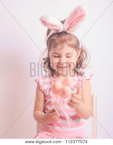 Pink decorative eggs