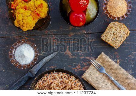 Vegetarian lunch in the village