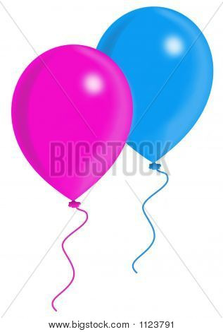 Blue And Pink Ballons (2)
